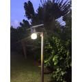 Lampadaire solaire puissant boule zs-r12 4w multi modes 4