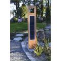 Borne solaire puissante bois 260 lumens 0