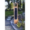 Borne solaire puissante bois 204 lumens 2