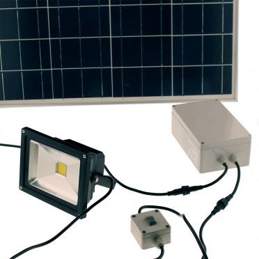 Projecteur solaire puissant 20w led 2000 lumens interrupteur zs-320