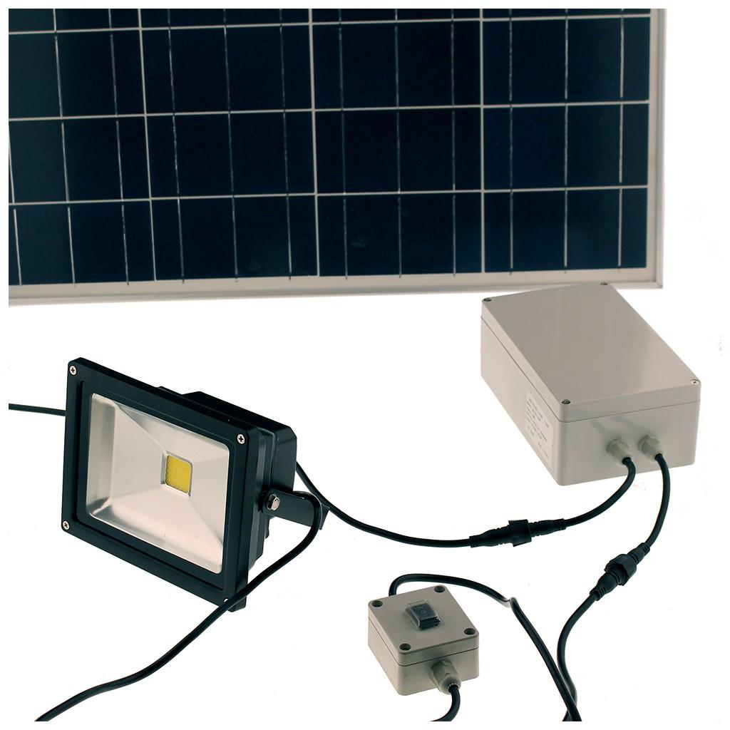 projecteur solaire 20 w led 2000 lumens zs 320 zs energie solaire. Black Bedroom Furniture Sets. Home Design Ideas