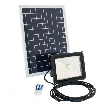 Projecteur solaire led puissant 10 w 700 lumens timer télecommande zs-245t
