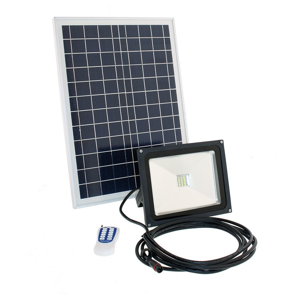 projecteur solaire led timer t l commande zs 245t zs. Black Bedroom Furniture Sets. Home Design Ideas