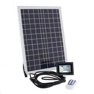 Projecteur solaire led puissant 6 w 500 lumens timer télecommande zs-225t
