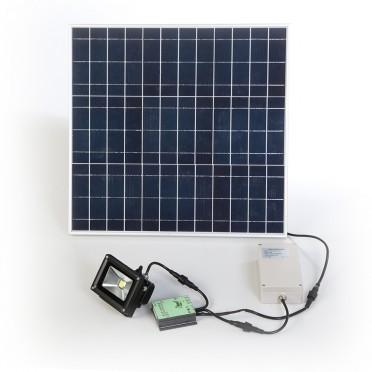 Projecteur solaire professionnel 10w timer zs 210 zs for Eclairage exterieur professionnel