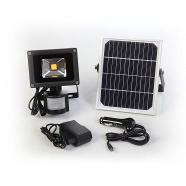Projecteur solaire puissant 5 w led 500 lumens zs-05 secteur multi-rechargements
