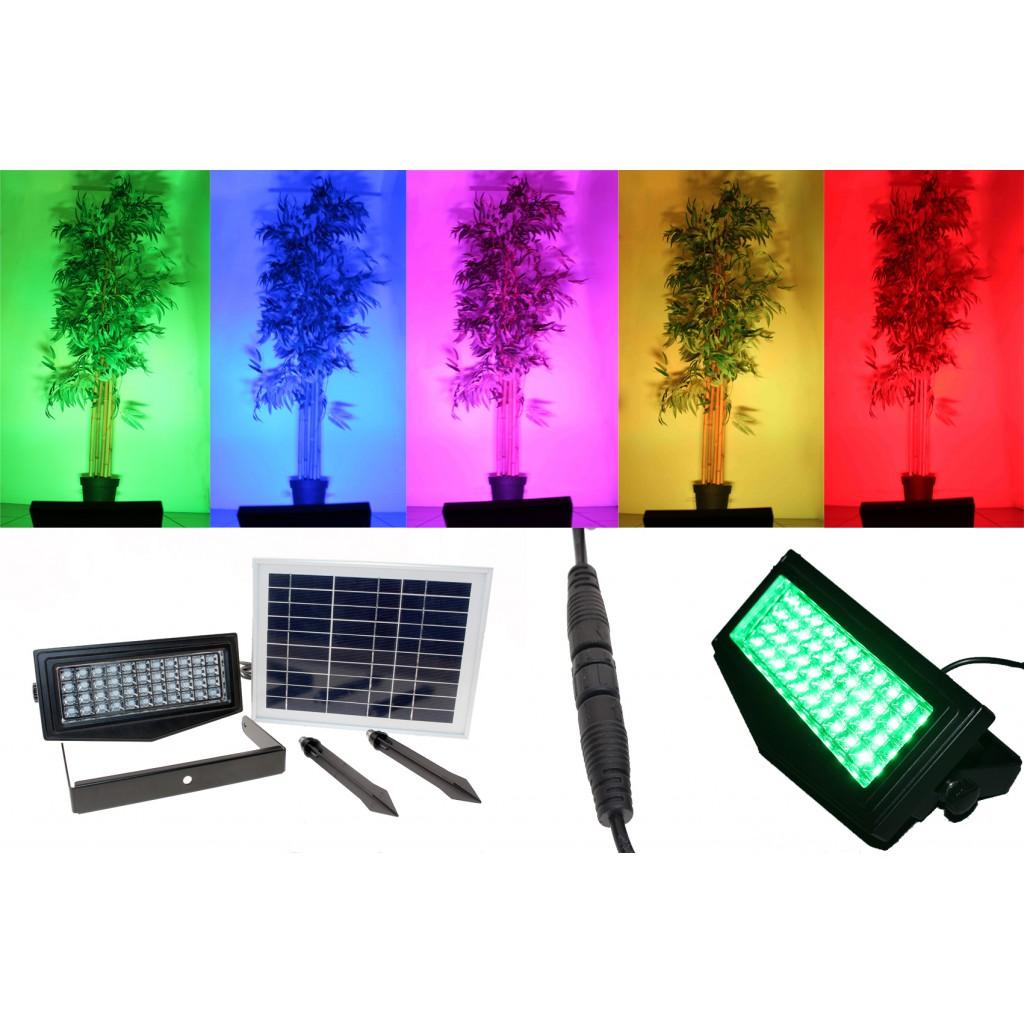 projecteur spot solaire rgb 300 lumens zs ll2 zs energie solaire. Black Bedroom Furniture Sets. Home Design Ideas