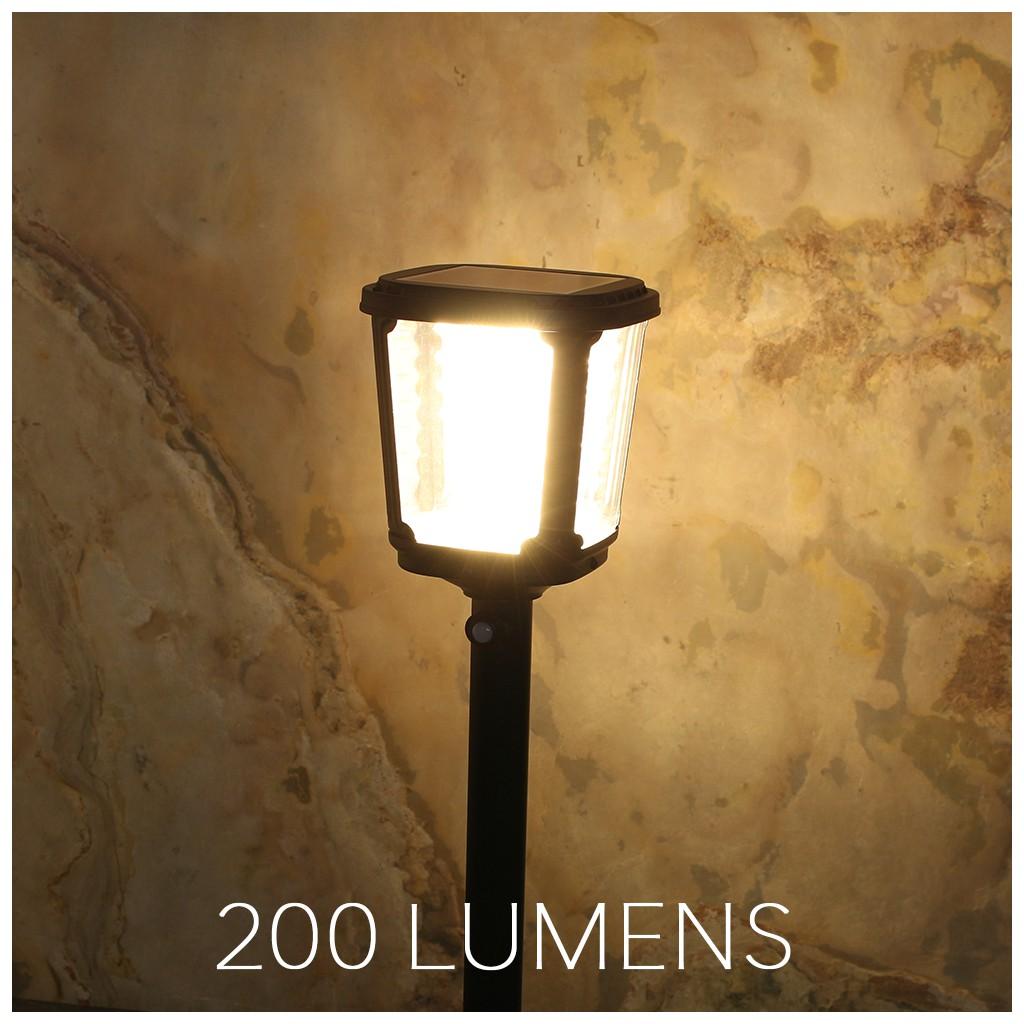 Borne solaire puissante zs gl02 200 lumens zs energie for Spot solaire 200 lumens
