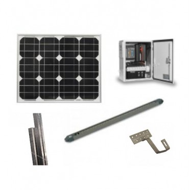 Kit eclairage solaire totem programmable - 6 h jour région nord