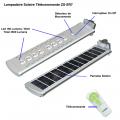 Lampadaire Solaire Télécommande ZS-SR7 5