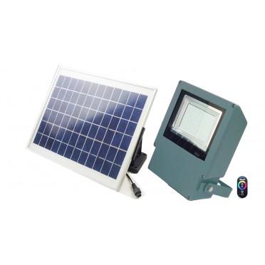 Projecteur solaire puissant rgb télécommande