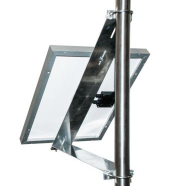Support de fixation panneau solaire sur Mât -Mur 640