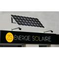 Kit enseigne solaire 2X5W 6H programmable sud 3