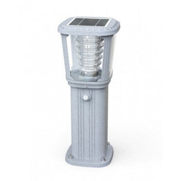 Borne solaire puissante zs-gl03 200 lumens ip 65 blanc chaud