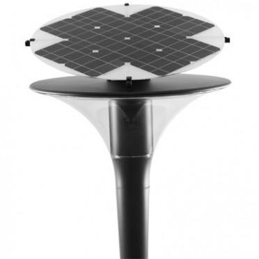 Lampadaire solaire professionnel goujon 2 16w leds cree - batterie intégrée