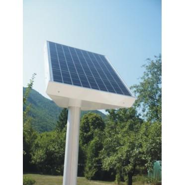 Caisson solaire photovoltaïque enseigne 110 w sur mat